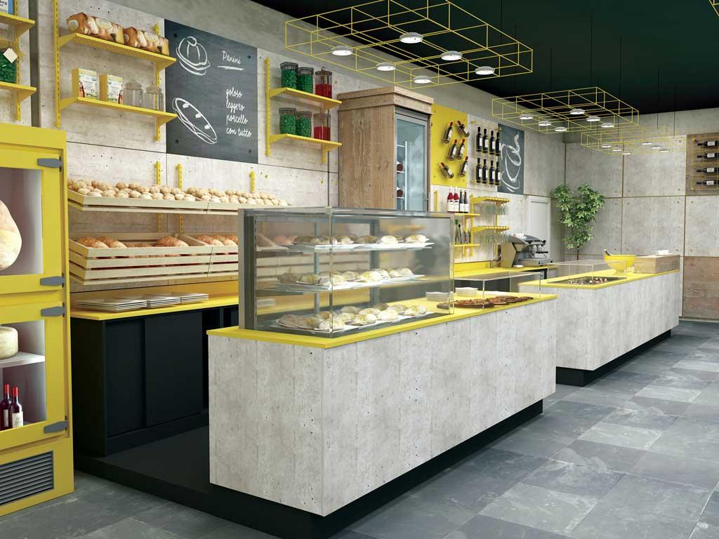 Arredamento per panetterie e gastronomie toscana belardi for Belardi arredamenti