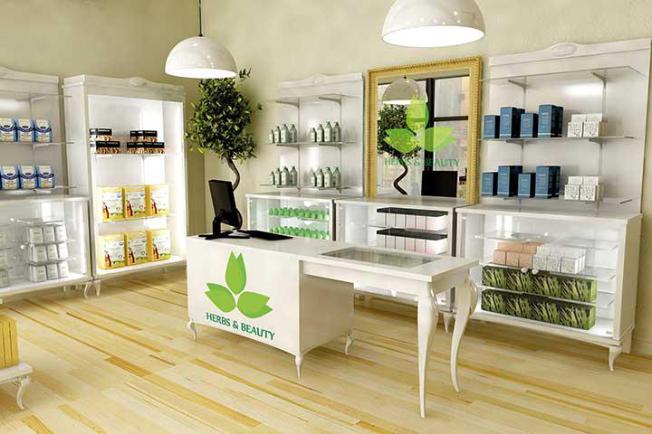 Arredamento per negozi di erboristeria parafarmacia for Negozi design online