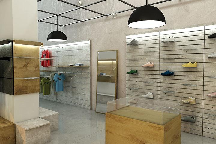 Arredamento per negozi di abbigliamento negozio quot for Arredamento per negozi abbigliamento