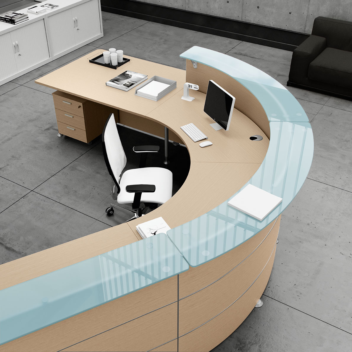 Abako toscana reception da ufficio belardi arredamenti for Mobile reception ufficio